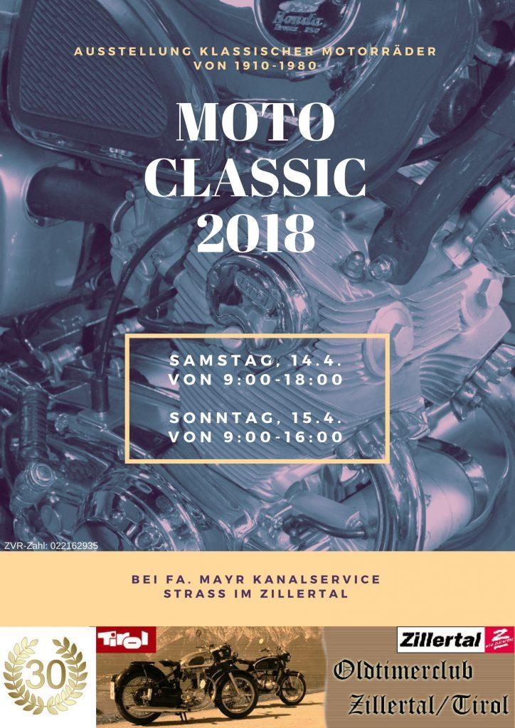 Moto Classic 2018 Plakat